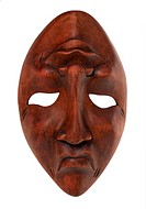 Greek traditional olive wood mask