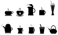 coffee and tea vector icons