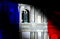 'La Nuit aux Invalides', sound and light show set in the open air in the main courtyard of the hôtel des Invalides, on about 250 metres of facades, il...
