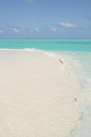 view of a desert Maldivian island by summer