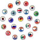 illustration of soccer buttons _ qualifikation world championship 2010