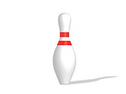 Bowling pin isolated on a white background.
