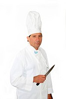 Middle_aged male chef with knife