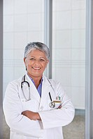 portrait of caring female doctor