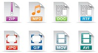 computer document file icons set one