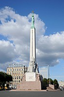Brivibas Piemineklis Freedom Monument, Riga, historic centre, Latvia, Baltic States, Northern Europe