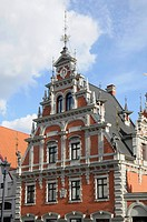 The House of Blackheads, Ratslaukums square, Riga, historic district, Latvia, Baltic states, Northern Europe