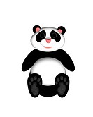 Panda Bear illustration for greeting card or children´s story book
