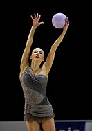 Ganna Ritzatdinova, UKR, with ball, Rhythmic Gymnastics, Grand Prix Thiais, 9_10/04/2011, Paris, France, Europe