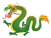 Abstract vector illustration of chinese dragon