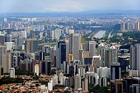 Aerial view, high-rise buildings in the new financial centre, Morumbi district, Sao Paulo, Brazil, South America
