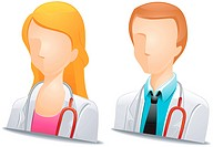 Doctor Avatars with Clipping Path