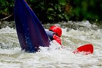 kayaking in white water