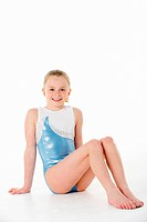 Studio Portrait Of Young Female Gymnast