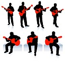 Live Music Band CollectionOriginal Vector IllustrationPeople Silhouette Sets