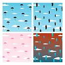Vector illustration wallpaper pattern like of falling umbrella´s and businessmen.