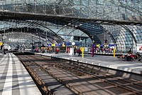 Hauptbahnhof railway station, Berlin, Germany, Europe