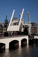 Magere Bridge bridge over the Amstel, Amsterdam, The Netherlands, Europe