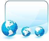 Globes on blank internet backgroundOriginal Vector IllustrationGlobes and Maps Ideal for Business Concepts