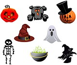 Isolated halloween icons and symbols for design