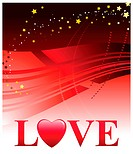 Valentine´s Day Love BackgroundOriginal Vector Illustration