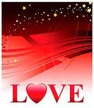 Valentine´s Day Love BackgroundOriginal Vector Illustration