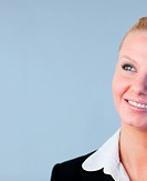 Young attractive Businesswoman smiling