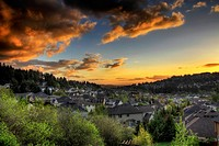 Sunset at the Suburbs in Happy Valley Oregon
