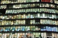 UK, United Kingdom, Great Britain, Britain, England, London, Southwark, More London Piazza, Offices, Office Building, Office Lights, Office Windows, B...