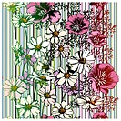 Colorful Seamless Flower Pattern, editable vector illustration