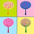 Colored trees collection