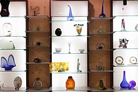 Showroom of Menestralia blown glass in Campanet, Majorca, Balearic Islands, Spain, Europe