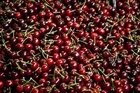 Spain, Malaga, Full frame of cherries