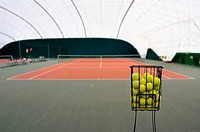 View on tenis court