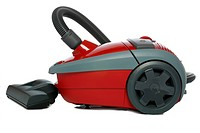Vacuum cleaner. Devices for cleaning premises, it is isolated on a white background