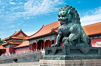 Lion Guardian at The Forbidden City, Beijing, China.