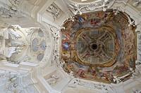 Ceiling fresco, Santa Maria del Sasso church, Morcote, Ticino, Switzerland, Europe