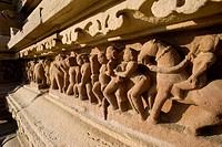 Relief, Khajuraho Group of Monuments, UNESCO World Heritage Site, Madhya Pradesh, India, Asia