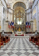 Interior with the chancel and the altar, Soldier?s Church or the Church of Saint Louis des Invalides, L'Hôtel national des Invalides, a hospital and r...