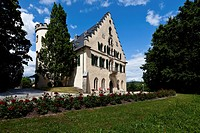 Schloss Rosenau Palace with park, Coburg, Upper Franconia, Bavaria, Germany, Europe