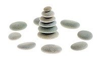 Pebble. Sea stones isolated on a white background