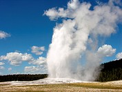 The Famous ´Old Faithful´ Geyser in Yellowstone National Park