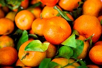 close up photo of fresh tangerine background