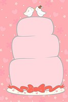 A vector illustration of a wedding cake