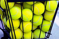 BASKET OF BALLS OF TENNIS