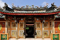 Vietnam, Quang Nam province, Hoi An, Old city, on the World Heritage List of UNESCO, Trieu Chau temple or Chaozhou chinese assembly hall