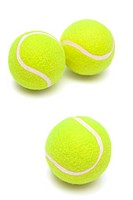 modern tennis balls on a white background