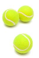 modern tennis balls on a white background