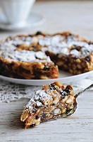 Panforte fruit and nut cake, Tuscany, Italy