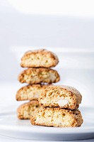 A stack of cantuccini